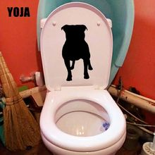 YOJA 11.8X22.1CM Staffordshire Bull Terrier Home Decor Wall Sticker Toilet Decal Staffy Dog T5-1588(China)