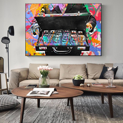 Graffiti Money Street Art Canvas Print Painting Modern Inspirational Wall Picture Abstract Living Room Home Decoration Poster