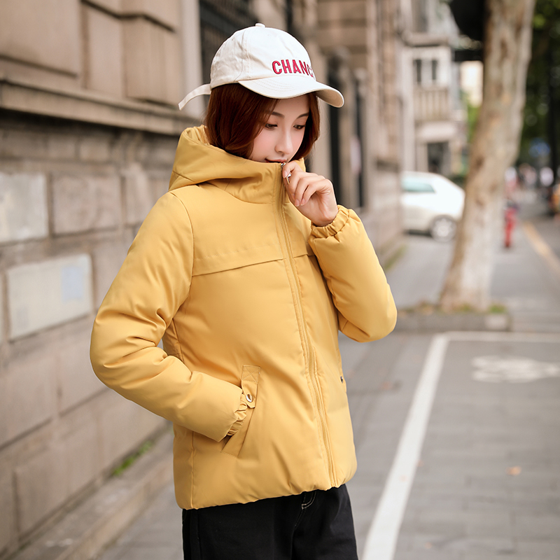 Winter Jacket Yellow Coat Outerwear Hooded Female Women Autumn Cotton Mujer Padded Chaqueta