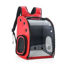 Portable Astronaut Capsule Breathable Pet Cat Puppy Travel Backpack with Space Transparent Vision Cushion Carrier Bags