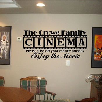 Cinema Theatre Vinyl Wall Sticker Vinyl Movie House Wall Decal Popcorn Cinematography Decoration Cinema Destign Wall Poster M119 image
