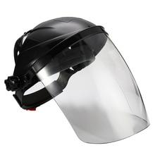 Anti-shock Welding Helmet Face Shield Solder Mask Transparent Lens Face Eye Protect Shield Anti-UV Anti-shock Safety Mask