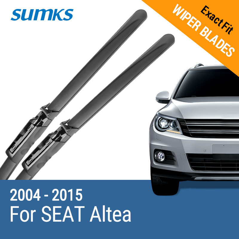 SUMKS Windiper Wiper Blades untuk SEAT Altea Fit Claw Type Arms 2004 2005 2006 2007 2008 2009 2010 2011 2012 2013 2014 2015