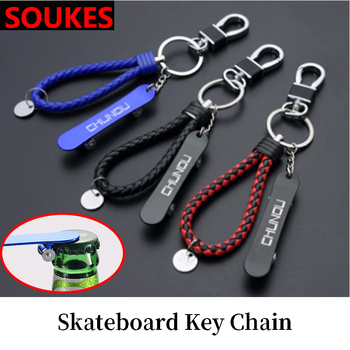 Skateboard Car Styling Bottle Opener Keychain For Suzuki Swift Bmw F10 X5 E70 E30 F20 E34 G30 E92 E91 M Volvo XC90 S60 V40 S80 image