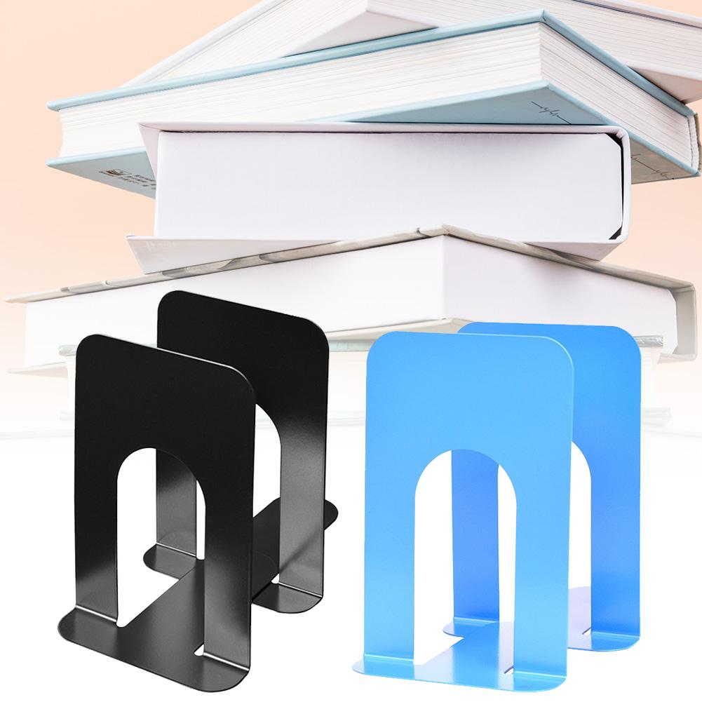 2PCS Metal Home Bookends Book Supports Durable Metal Book Holder Book Stands With Anti slip Base|Home Office Storage|Home & Garden - title=