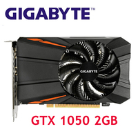 GIGABYTE GPU GTX1050 2GB Graphics Card 128Bit for nVIDIA Video Cards Geforce GTX 1050 D5 2G Map VGA VideoCards Hdmi PCI Used 1