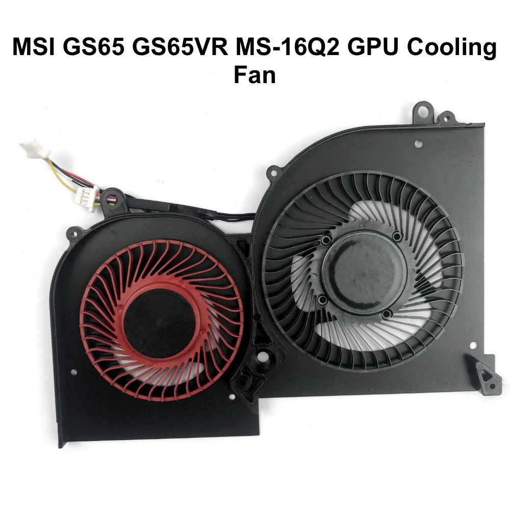 Original GPU CPU Cooling fans for MSI GS65 GS65VR MS-16Q2 Series Laptop CPU GPU VGA Cooler Fan 5V 4PIN 16Q2-CPU-CW BS5005HS-U31 4