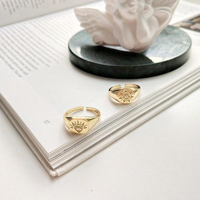 женские винтажные открытые кольца leouerry из серебра 925 пробы фотография
