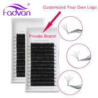 20 Cases/Size Easy Fanning Eyelash Extensions Customized Link Private Labeling