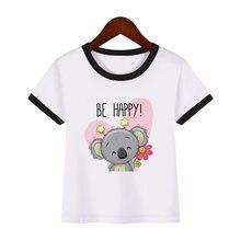 Be happy/детская одежда с рисунком коалы футболка для мальчиков