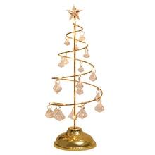 Светодиодный светильник для рождественской елки с кристаллами, на батарейках, для украшения стола, окна, дома, офиса, MYDING