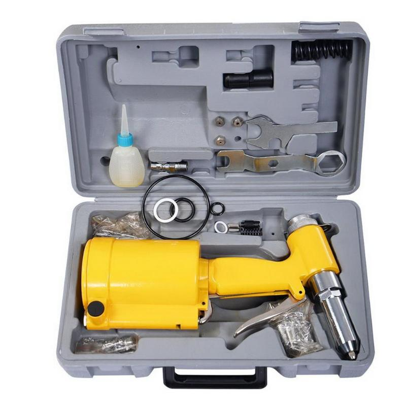 Air Riveter Rivet Gun 3/16 Hydraulic Pop Rivet Pneumatic Riveting Gun 5/32 1/8 3/32 Industrial Nail Riveting Tool Set