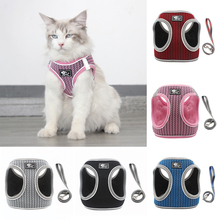 Cat Dog Vest Harness Air-Mesh Breathable Reflective and Leash No-Pull Step-in Padded Small Medium Dogs