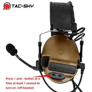 Image 4 - TAC SKY COMTAC III לעבור כפול סיליקון earmuff גרסה רעש הפחתת טקטי אוזניות + 2 צבאי מתאם KENWOOD U94 PTT