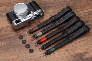 Image 2 - Original Handmade Doppel seite Verdicken Echtem Leder Kamera Handgelenk Strap Hand Armband für Sony Leica Canon Fuji Nikon Olympus