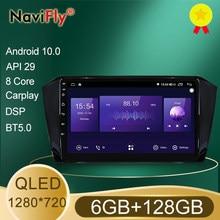 Nowy! 7862 6GB + 128GB QLED 1280*720 DSP Android 10.0 nawigacja samochodowa Radio GPS odtwarzacz dla Volkswagen Passat b8 Magotan 2015