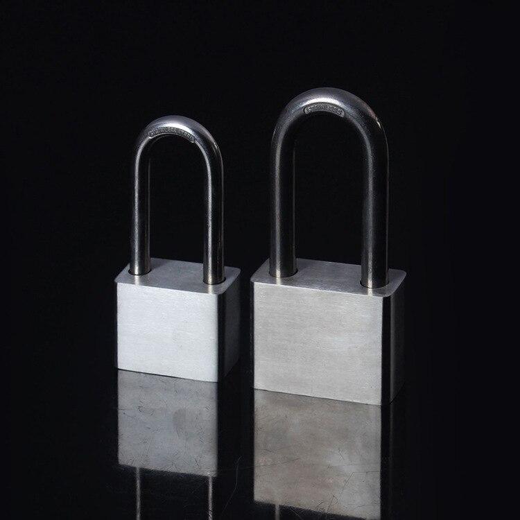 Long Beam 304 Stainless Steel Padlock 50mm Long Beam Padlock Anti-Theft Rust-proof Padlock Stainless Steel Material