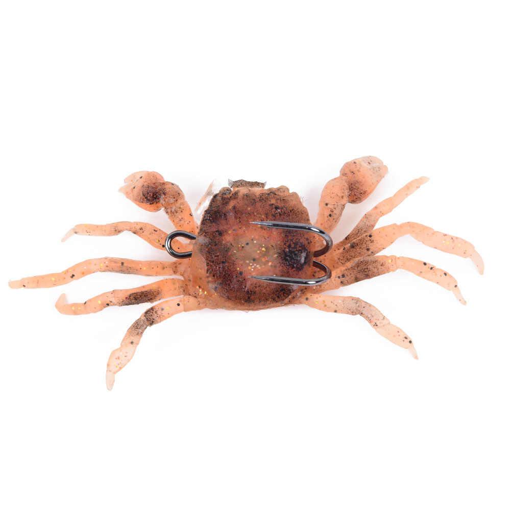 2 X Saltwater 3D Manic Crab Lures Bass Wrasse Sea Fishing Hook Tackle Bait UK