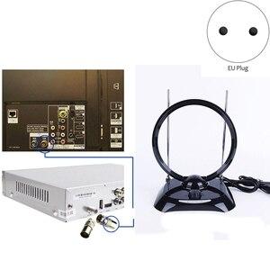 Image 1 - Новая 70 МГц DVB T цифровая внутренняя приемная ТВ Антенна широкий диапазон 100 240 в внутренняя приемная ТВ антенна (ЕС вилка)