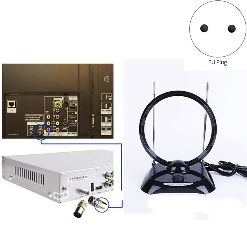 New 70MHz DVB-T Digital Indoor Receiving TV Antenna Wide Range 100-240V Indoor Receiving TV Antenna(EU Plug)