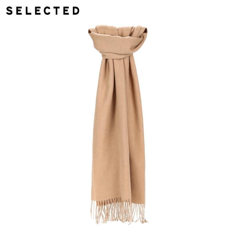 Выбранный 100% шерстяной длинный шарф с бахромой A   41846H501【Fan получить новые поступления купон в описании.