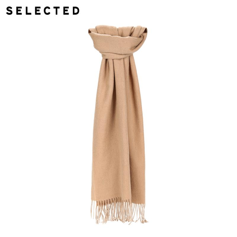 SELECTED 100% Wool Fringed Long Scarf  A|41846H501