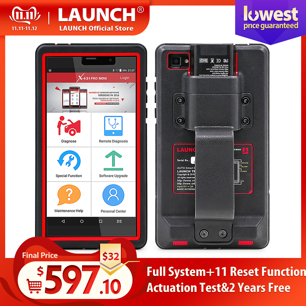 LAUNCH X431 Pro Mini Auto diagnostic tool Support WiFi/Bluetooth full system X 431 Pro Mini Car Scanner 2 years free update-in Engine Analyzer from Automobiles & Motorcycles