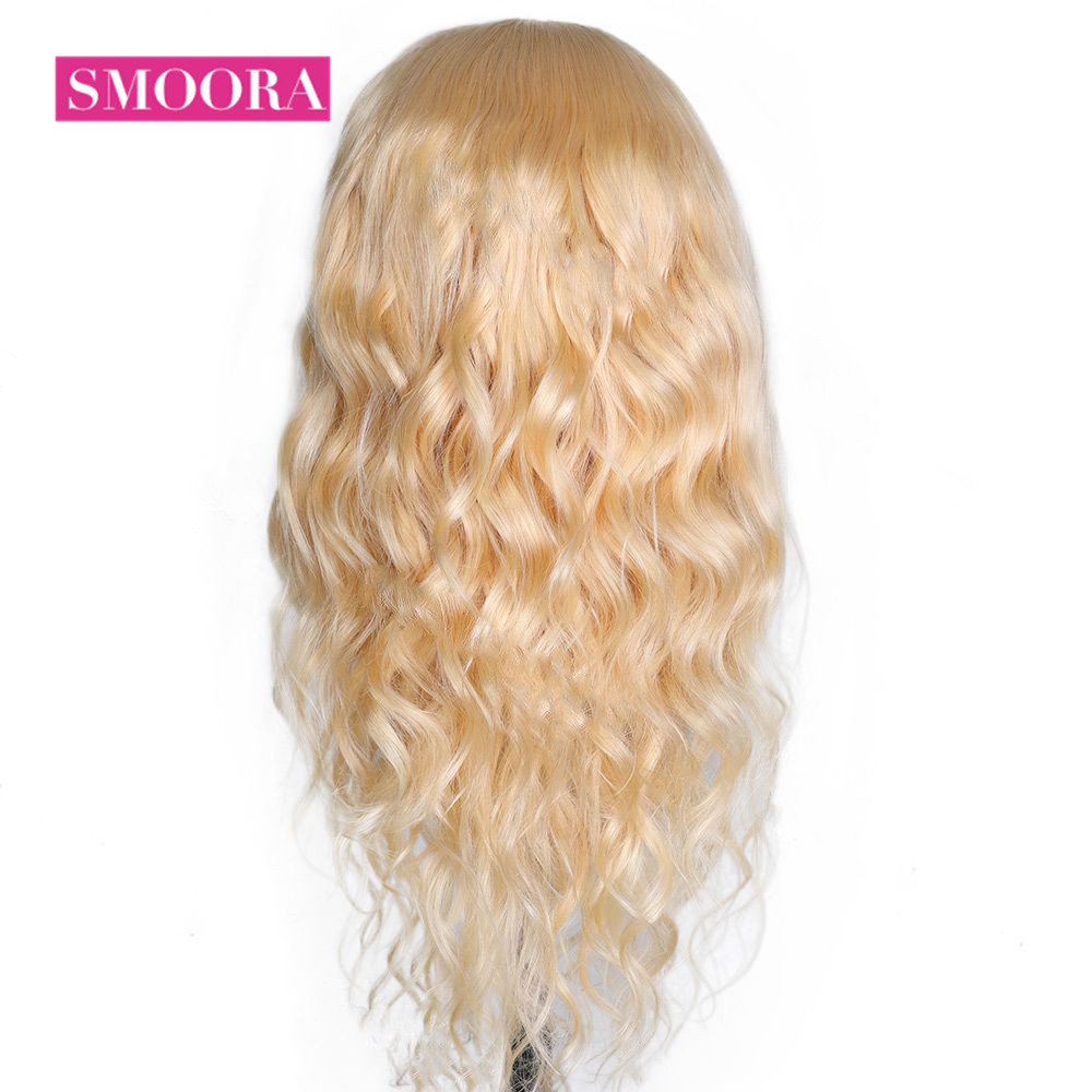 613 Lace Front Honey Blonde Wig  Body Wave Wigs  150% Density  Transparent 13x4 Lace Front Wig 5