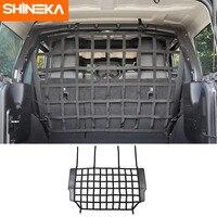 SHINEKA Interior Mouldings For Jeep Wrangler JK JL 2007 2019 Pet Separation Net Fence Car Trunk Cargo Safety Net for Jeep Wrangler JK JL 2007 2019 Accessories
