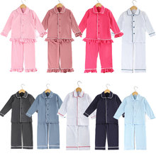 toddler sleepwear girls cotton pjs children boy clothes monogram winter blank pyjamas girls cute pajamas for girls