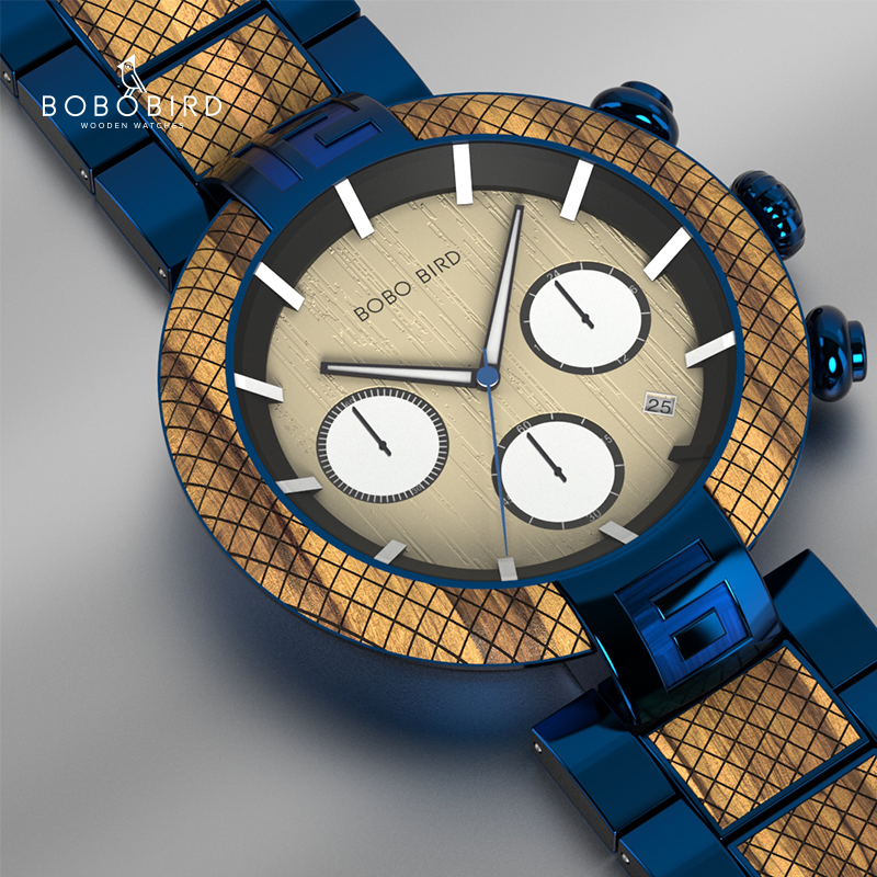 Relogio Masculino BOBO BIRD Wood Watch Men Gifts  Luxury Stylish Timepieces Chronograph Military Sports Watches часы мужские