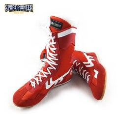 أحذية مصارعة احترافية مضادة للانزلاق مع واقي للكاحل أحذية رياضية عالية الجودة للرجال والنساء