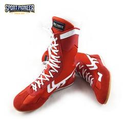 Zapatos de boxeo antideslizantes profesionales con protección de tobillo Zapatillas altas para hombres y mujeres