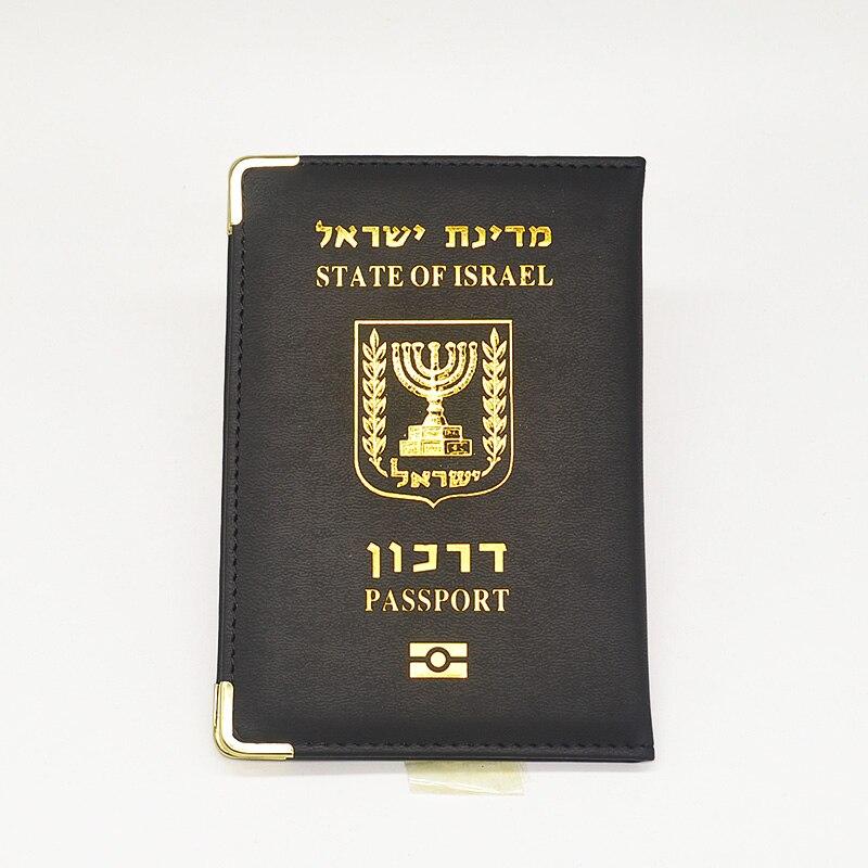 Черный чехол для паспорта Israel, Женский чехол из искусственной кожи с кошельком для путешествий, милый розовый чехол для паспорта