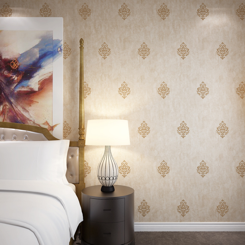Export Quality Simple American-Style Non-woven Wallpaper Living Room Bedroom Sofa TV Background Wallpaper