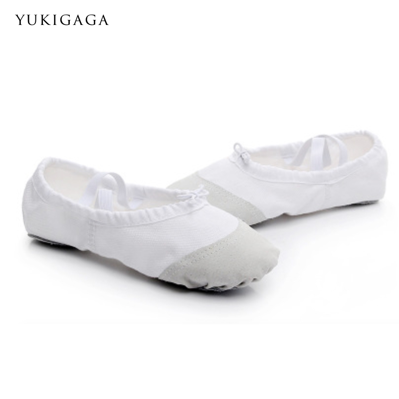 Professional Flat Dance Shoes For Children Adult Canvas Head Soft Bottom Ballet Shoes New Arrive