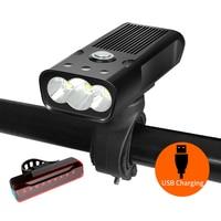NEWBOLER 5200mAh Fahrrad Licht Hohe Strahl L2/T6 USB Aufladbare Fahrrad Licht Set Wasserdicht LED Scheinwerfer Power Bank zubehör