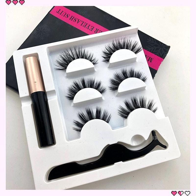 Magnetic Eyeliner Liquid Eyeliner False Eyelashes Set Tweezer Waterproof Eye Lashes