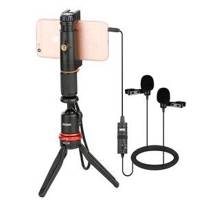 Image 4 - BOYA BY M1 M1DM BY MM1 + çift çok yönlü yaka mikrofonu kısa tabancası Video mikrofon canon nikon için iphone akıllı telefonlar kamera