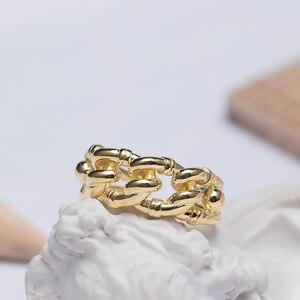 Image 4 - Prata esterlina 18k ouro amarelo tamanho livre, nó torcido aberto, marca de moda, vintage, presentes do amor dos namorados 925 anéis de anéis