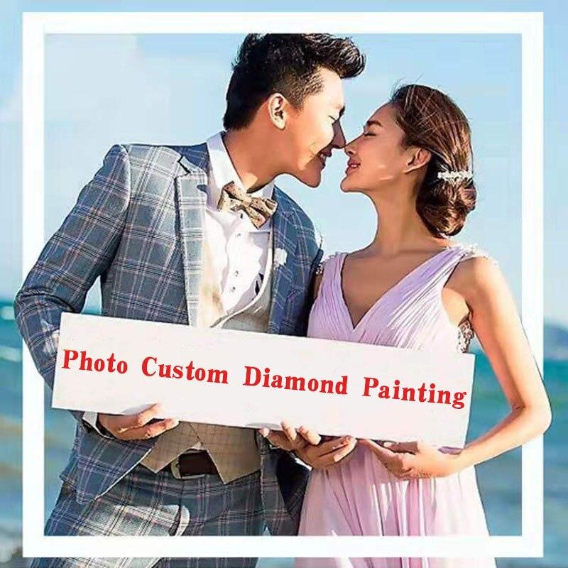 Photo Custom Diamond Painting 5D DIY Picture of Rhinestones Diamond Embroidery 5D Cross Stitch Home Wedding Decoration Unframed