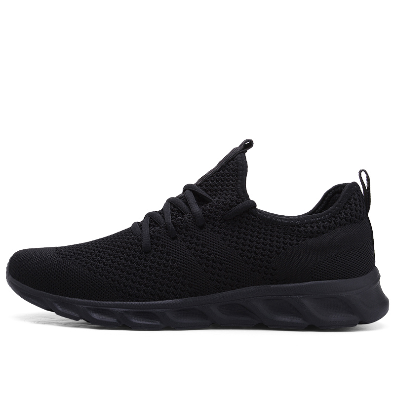 Flyknit Men Shoes Light Sneakers Men Breathable Jogging Shoes For Men Rubber Tenis Masculino Adulto Plus 35 46 48 DropShipping