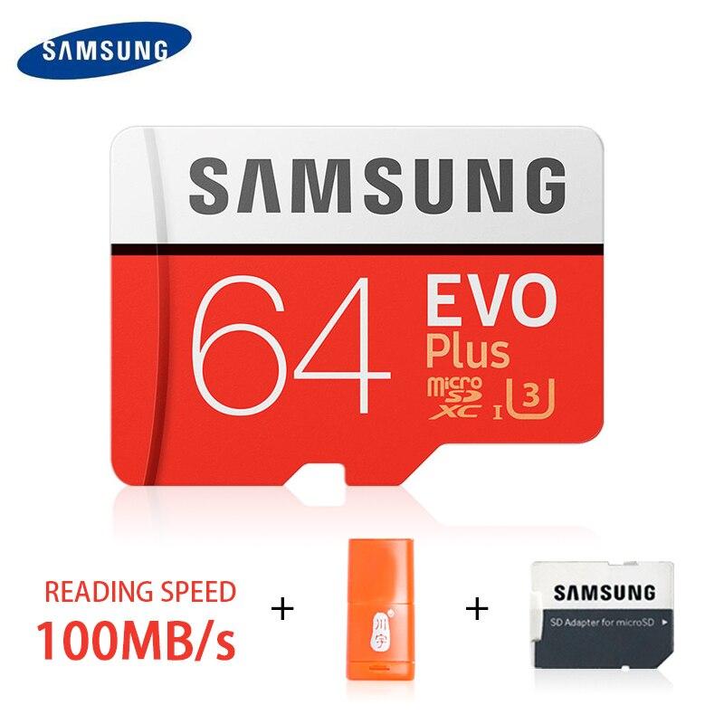 Carte mémoire SAMSUNG MicroSD 32 go 64 go 128 go 256 go 512 go U3 SDHC SDXC Grade EVO + classe 10 C10 UHS TF cartes SD