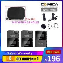 COMICA BoomX D2 Mini 2.4G cyfrowy mikrofon bezprzewodowy w trybie Mono/Stereo przełączany tryb wyjściowy dla wysięgnika kamery XD