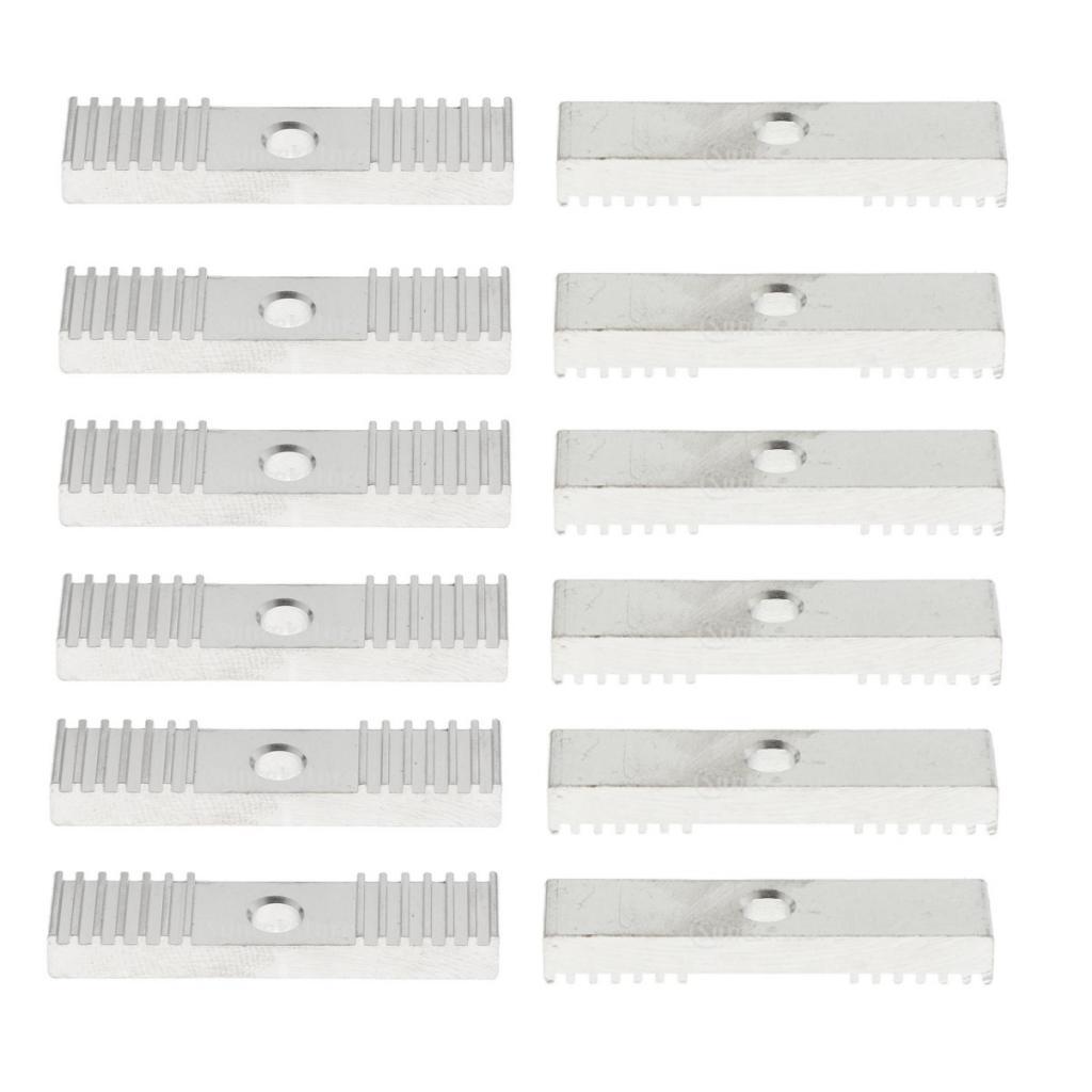 10pcs 2GT Timing Belt Aluminum Gear Clamp Mount Block 9X40mm for 3D-Printer
