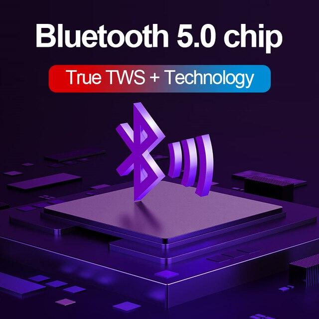 New H6 Wireless Headphones Bluetooth 5.0 Earphone TWS HIFI Mini In-ear Sports Running Headset Support iOS/Android Phones HD Call 3