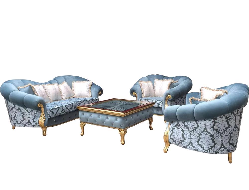 Wooden Carved Sofa Set Furniture