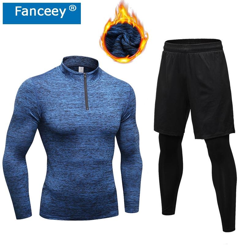 Fanceey High Collar Winter Thermal Underwear Men Long Johns Men Rashga