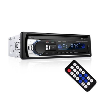 1 DIN Car MP3 Player FM Radio Audio Stereo In Dash Aux Input Receiver USB/TF Port with Remote Control 4X60W image