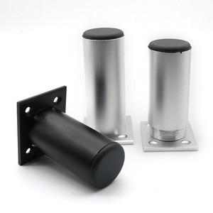 Image 4 - Zagęścić regulowany meble z aluminium nogi szafka stopę 6 30CM szafka TV nogi podporowa łazienka szafka nogi sofa stopy zestaw 4